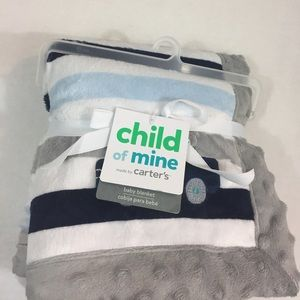 Baby Boy's New With Tags CARTERS Baby Blanket